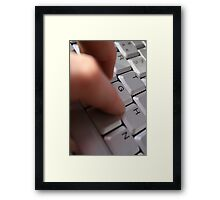 Hand at Work Framed Print