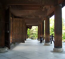 Huge Wooden Gate - Kyoto, Japan by Craftymizz