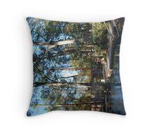 Backyard Paradise Throw Pillow
