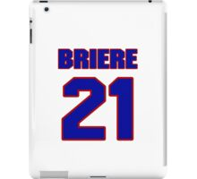 National Hockey player Michel Briere jersey 21 iPad Case/Skin