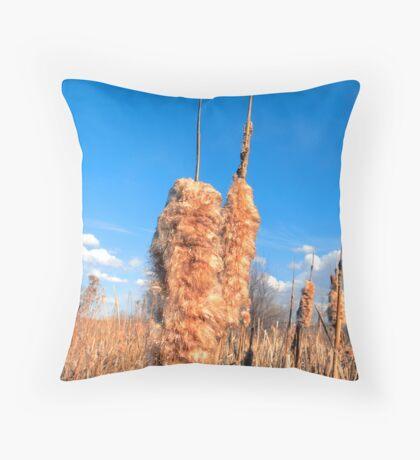Cattails Throw Pillow