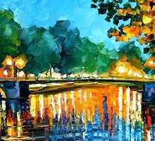 Amsterdam, Early Morning — Buy Now Link - www.etsy.com/listing/213554864 by Leonid  Afremov