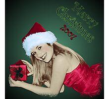 Santa Girl Photographic Print