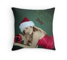 Santa Girl Throw Pillow