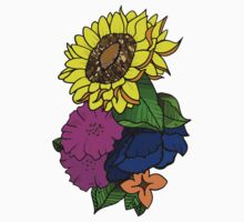 Colorful Sunflower Kids Clothes