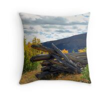 Boreas Pass Corral Throw Pillow