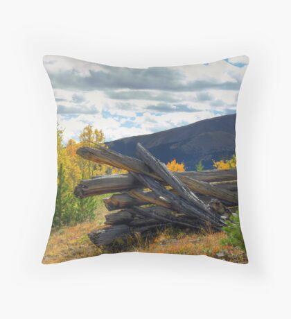 Boreas Pass Corral Throw Pillow