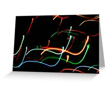 Snakes of light Greeting Card