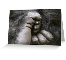 Gorilla Feet Greeting Card