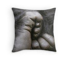 Gorilla Feet Throw Pillow