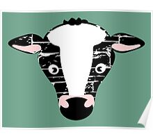 Cute Cow Face Poster