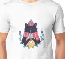 Winter cat Unisex T-Shirt