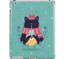 Winter cat iPad Case/Skin
