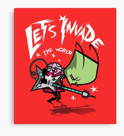 Invade the World Canvas Print