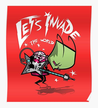 Invade the World Poster