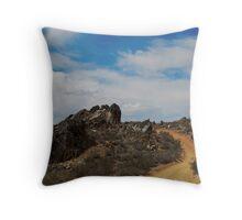 Ragged Rocks Throw Pillow