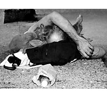 Richard III - Homeless in Black and White, NYC Photographic Print
