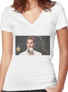 Superstar - Jonathan - BtVS Women's Fitted V-Neck T-Shirt