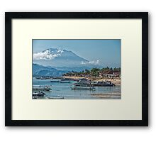 The View of Mt Agung from Nusa Lembongan Framed Print