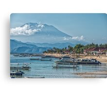 The View of Mt Agung from Nusa Lembongan Canvas Print
