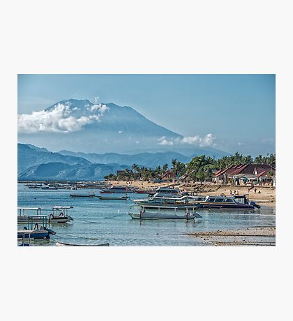 The View of Mt Agung from Nusa Lembongan Photographic Print