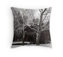Sorg House Snow  Throw Pillow