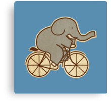 Elephant Cycle Canvas Print