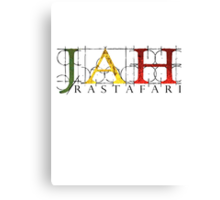 JAH Rastafari BLK Canvas Print