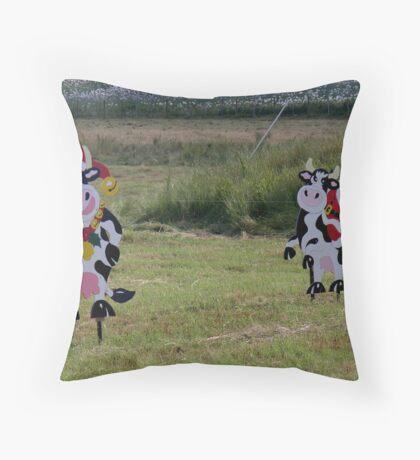 photoj Tas, Farm Animals Wish everyone,'Merry Xmas'   Throw Pillow