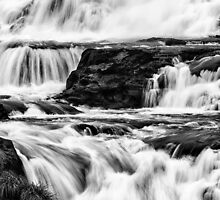 Iguaza Falls - back in close - monochrome by photograham