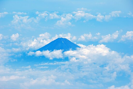 Mt Fuji from the Sky by lapart