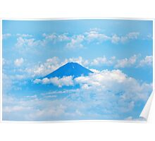 Mt Fuji from the Sky Poster