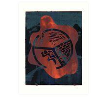 Silkscreens - 0004 - Fire On The Mountain Art Print