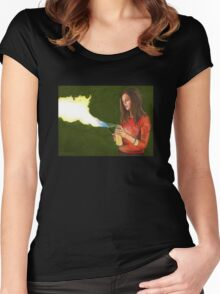 Five by Five - Faith - Angel Women's Fitted Scoop T-Shirt