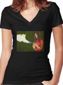 Five by Five - Faith - Angel Women's Fitted V-Neck T-Shirt