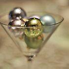 Baubles in a glass by Karen E Camilleri