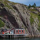 Fishing Stage at Quidi Vidi, NL, Canada by Gerda Grice