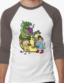 Courage the Cowardly Lion of OZ Men's Baseball ¾ T-Shirt