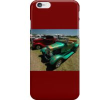 Hot Rods - Green and Red, Evans Head Fly-In iPhone Case/Skin