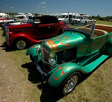 Hot Rods - Green and Red, Evans Head Fly-In by muz2142