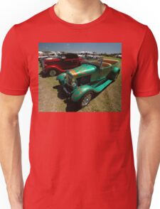 Hot Rods - Green and Red, Evans Head Fly-In Unisex T-Shirt