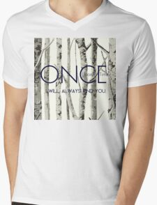"""Once Upon a Time (OUAT) - """"I Will Always Find You."""" Mens V-Neck T-Shirt"""