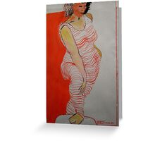 Orange hoops Greeting Card