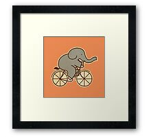 Elephant Cycle  Framed Print