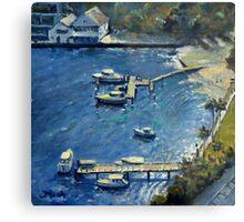 Deep Blue Lavender Bay, Sydney Harbour Metal Print