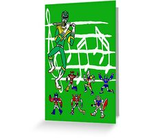 The Green Piper Greeting Card