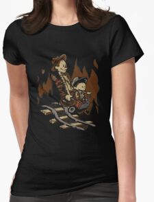 Hold onto your Potatoes, Dr. Hobbes! Womens Fitted T-Shirt