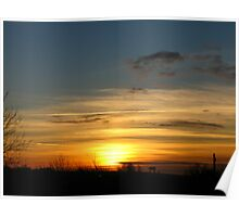 stripy sunset Poster