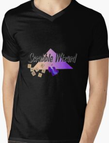 Scrabble Wizard Mens V-Neck T-Shirt