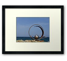 Steel sculpture.  Framed Print